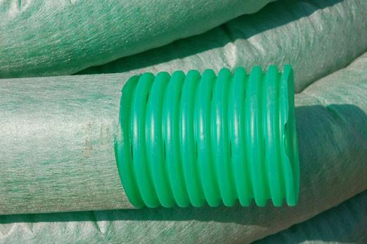 Дренажная труба пластиковая с геотекстилем