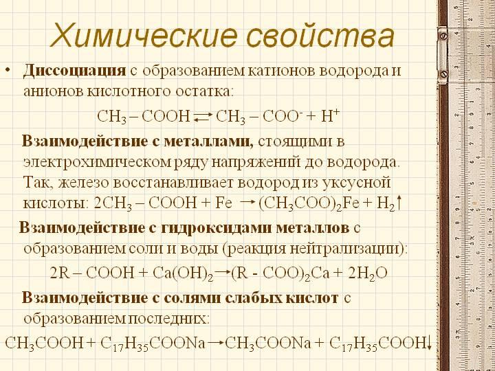 Химические свойства