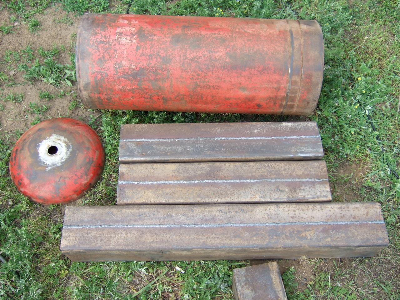 Разрезанный газовый баллон для пиролизного котла
