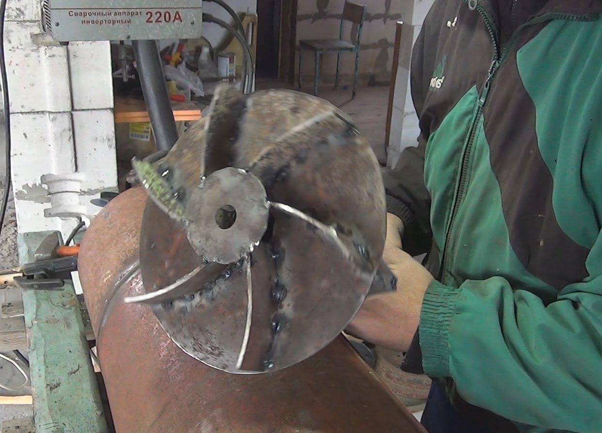 Поршень для пиролизного котла из газового баллона