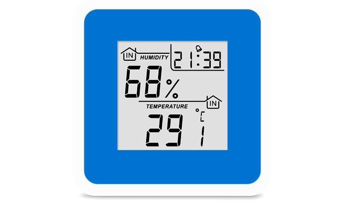 Термогигрометр цифровой с часами Т-07