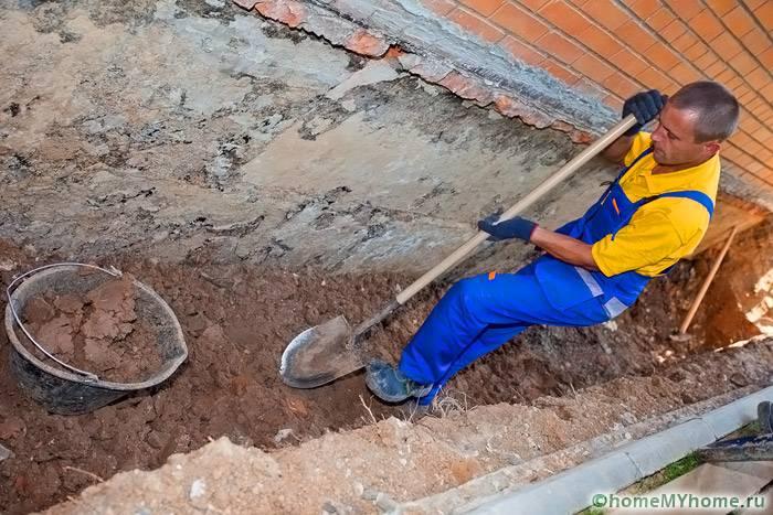 Трубопроводы предполагается прокладывать рядом с фундаментом