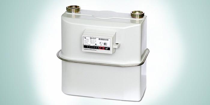 Модель бытового газового счетчика для установки на улице BK-G10 Т