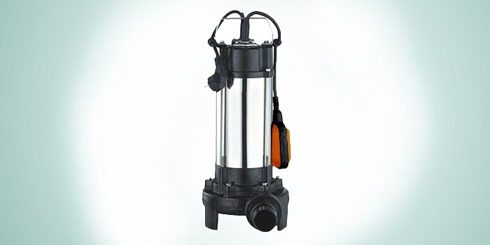 Погружной фекальный насос с измельчителем и контролем за уровнем погружения Вихрь ФН-1500Л