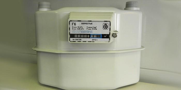 Механический мембранный газовый счетчик Берестье Г6 (G6)