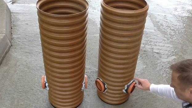 Труба гофрированная для ливнёвой канализации