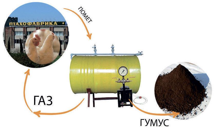 Получение удобрения с помощью биогаза и помета