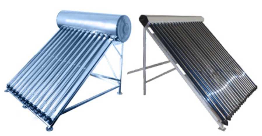 Наиболее распространенные трубчатые солнечные коллекторы