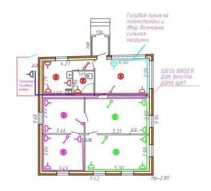 Схема монтажа розеток и выключателей