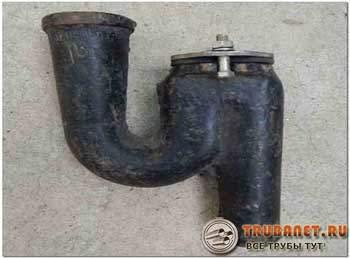 Фото – литой чугунный гидрозатвор для канализации