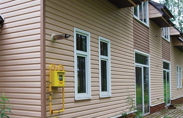 На фото - газификация частного дома