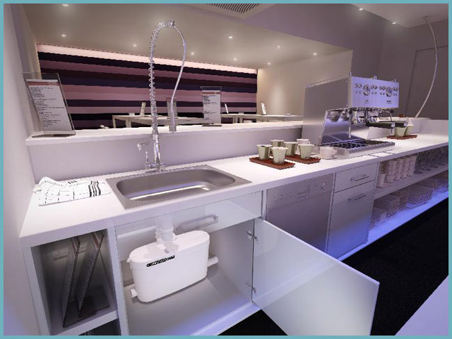 как установить канализационный насос на кухне