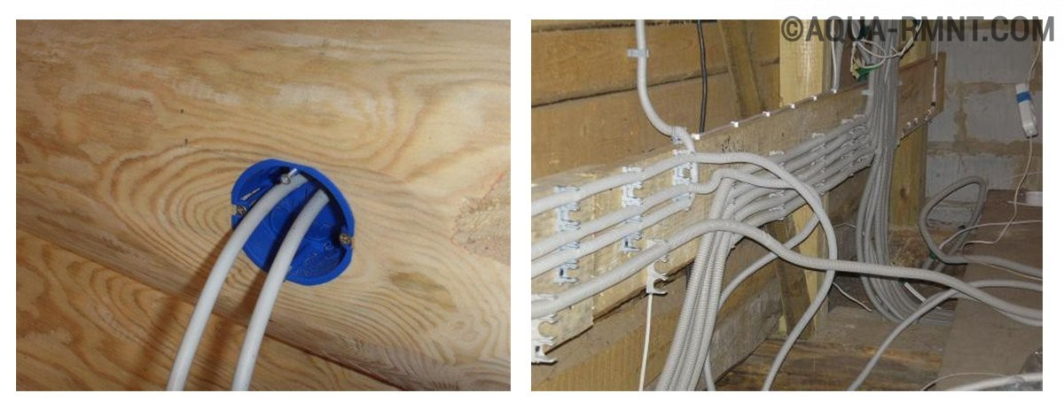 Основные ошибки при монтаже проводки в деревянном доме