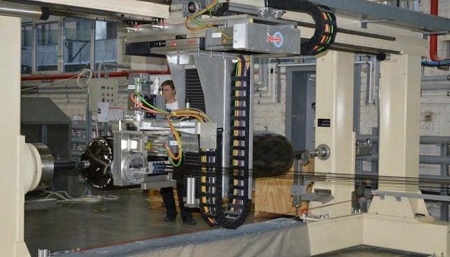 Производство композитных баллонов на заводе