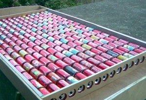 Солнечные батарей из пивных банок