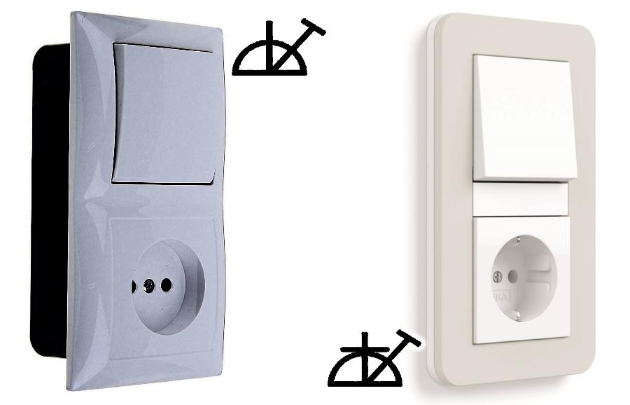 Блоки с одноклавишными выключателями