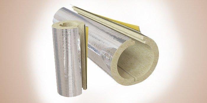 Фольгированный базальтовый утеплитель для труб Изолин RW ALU