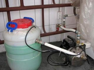 заливка антифриза в систему отопления