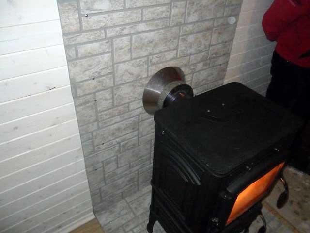 Подключение дровяной печки к дымовой трубе