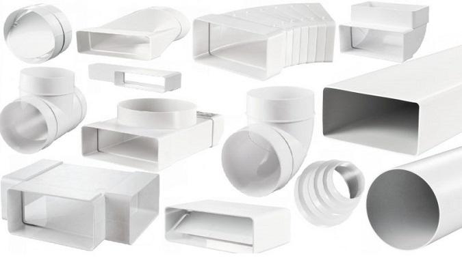 Части пластикового воздуховода