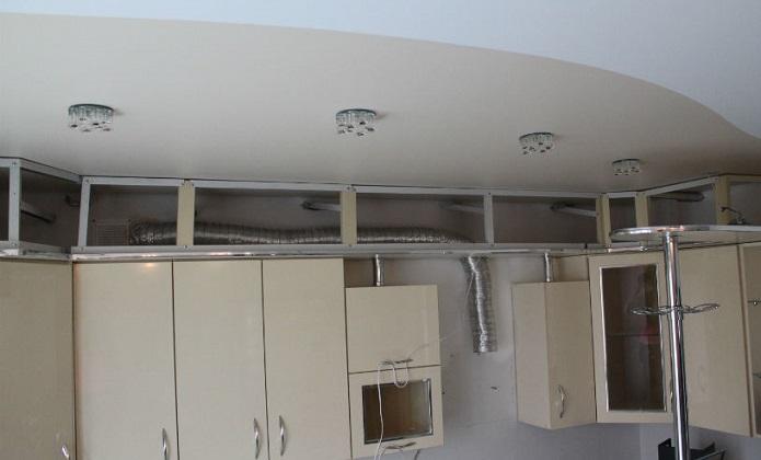 Гипсокартонный короб для воздуховода