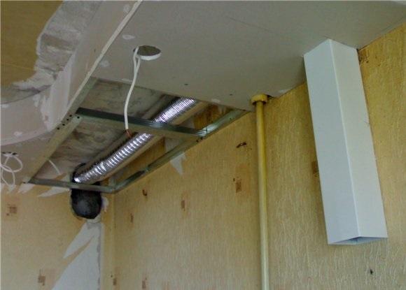 Воздуховод под навесным потолком