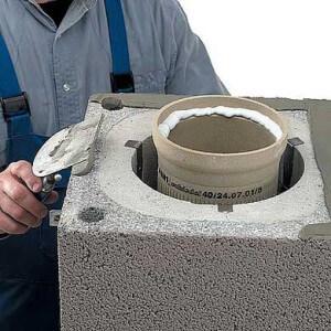 Установка керамических дымоходов