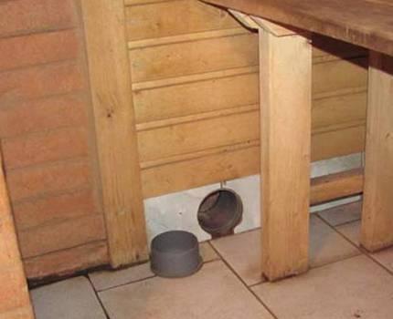 Как устроить вентиляцию в бане схема