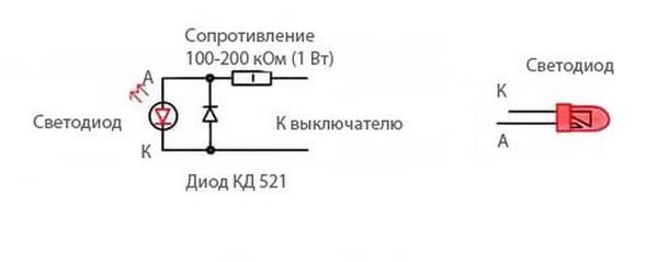 Лучшим решением избавиться от данной проблемы будет убрать светодиод из схемы выключателя