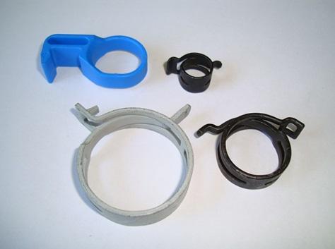 Крепежи для крепления пластиковых труб небольшого диаметра