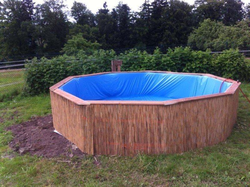 Бассейн из поддонов после отделки