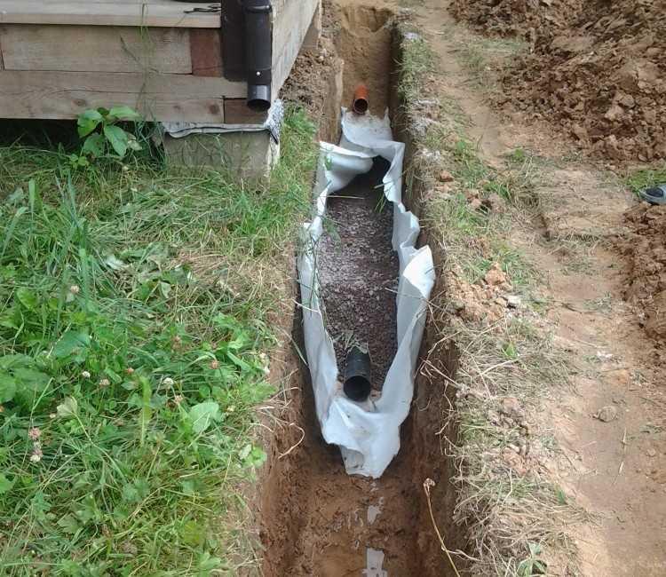 Укладка канализации