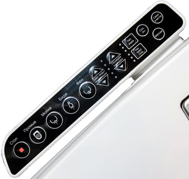 Русифицированные пиктограммы на пульте управления унитазов SensPa Tankless