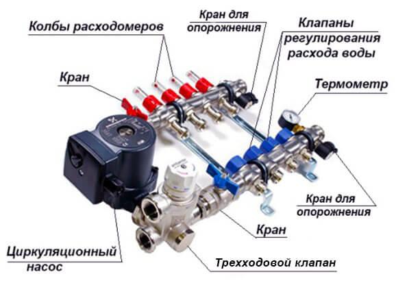 Схема с циркуляционным насосом