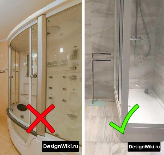 Ванная комната с душем без кабины #дизайнпроект #ваннаякомната