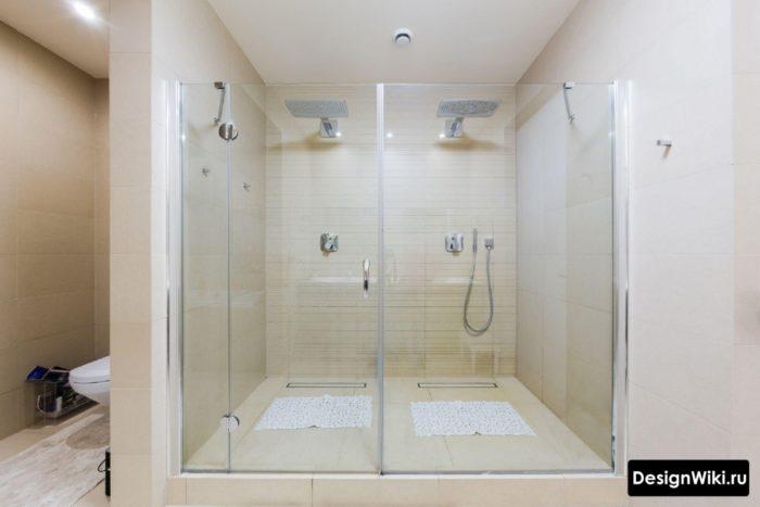 Встроенный тропический душ