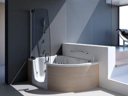 Душ и ванна в одной ванной комнате или совмещенный душ с ванной