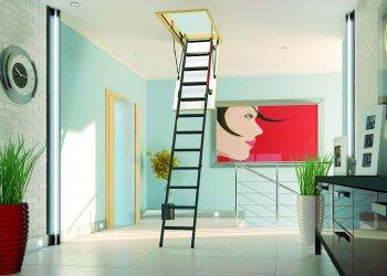 Лестницы чердачные с люком: виды, способы изготовления