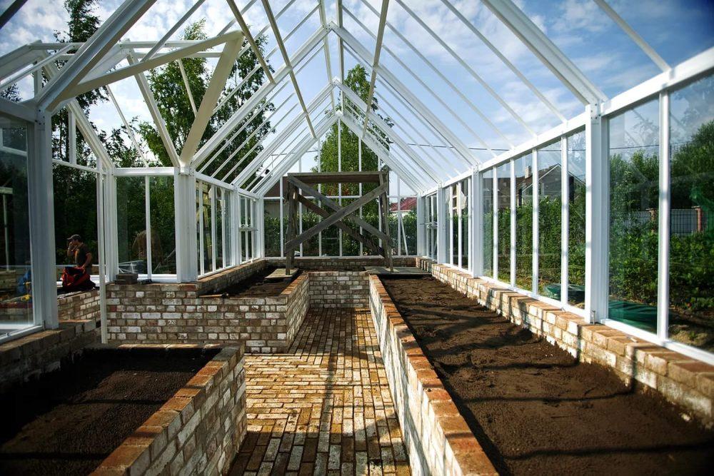 Стены теплицы позволяют выращивать высокие растения
