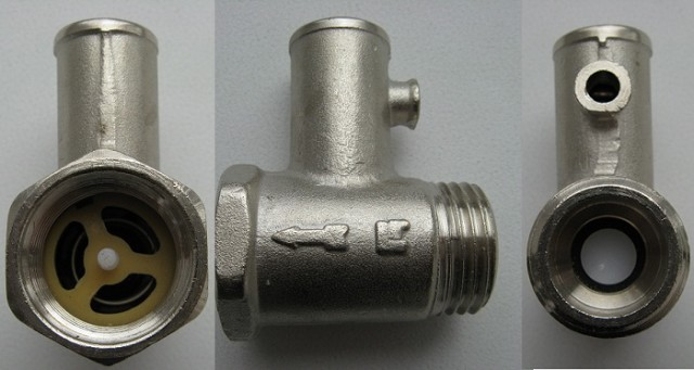 Вид с трех ракурсов на предохранительный клапан