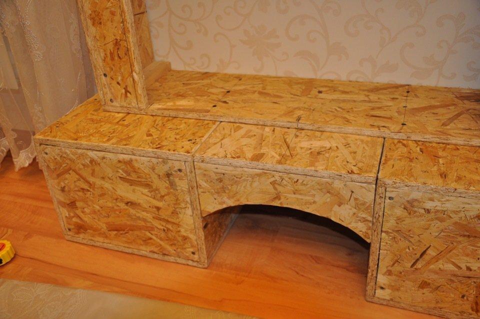 Портал камина из стружечных панелей