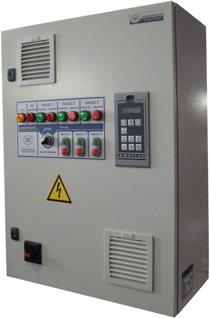 Шкаф управления насосом с частотным преобразователем