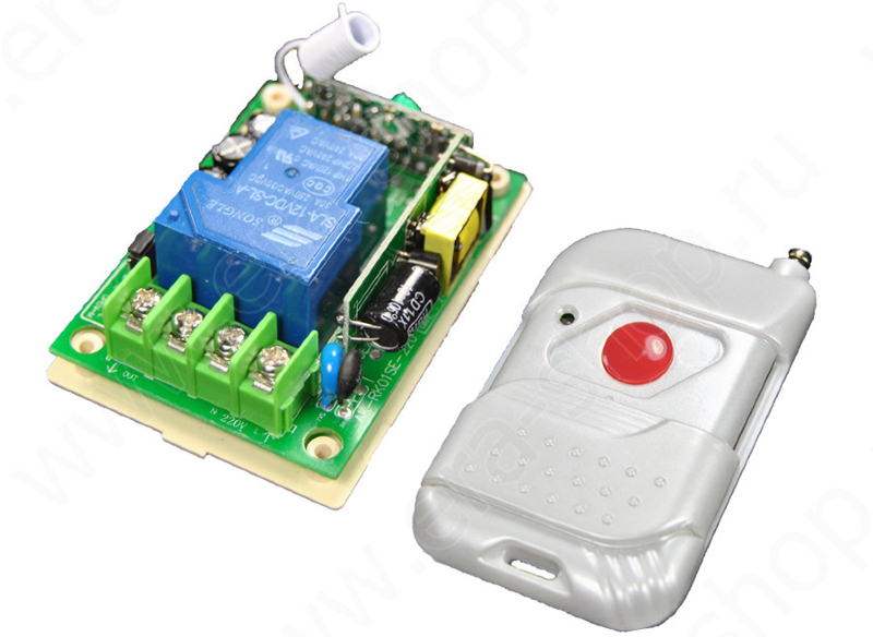 Система может иметь один небольшой пульт всего лишь с одной кнопкой