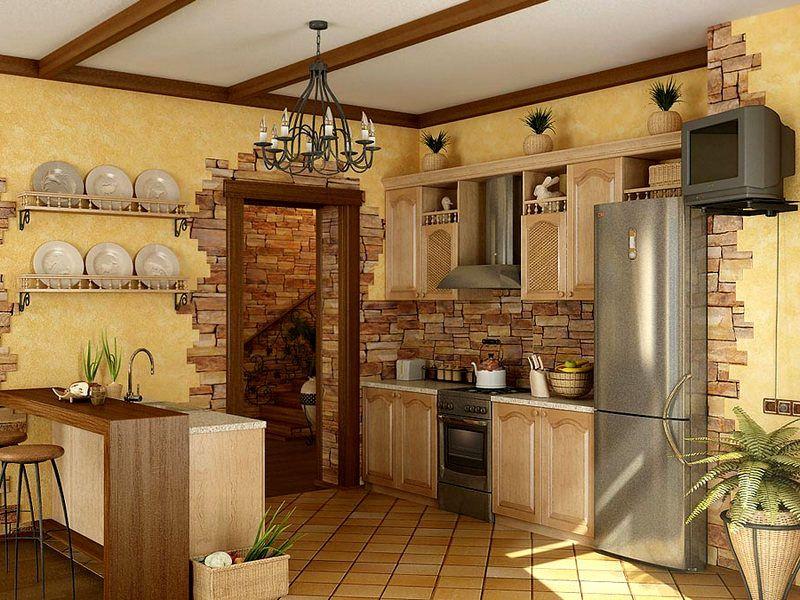 Фото дизайна кухни-гостиной в 25 м²