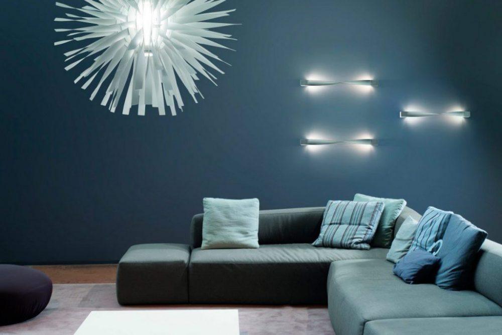 подсветка стен в гостиной