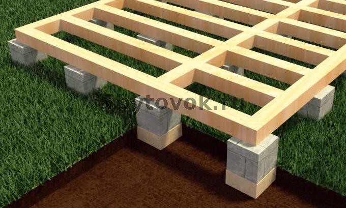 фундамент на блоках под бытовку