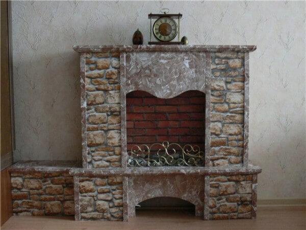 Декор фальш камина