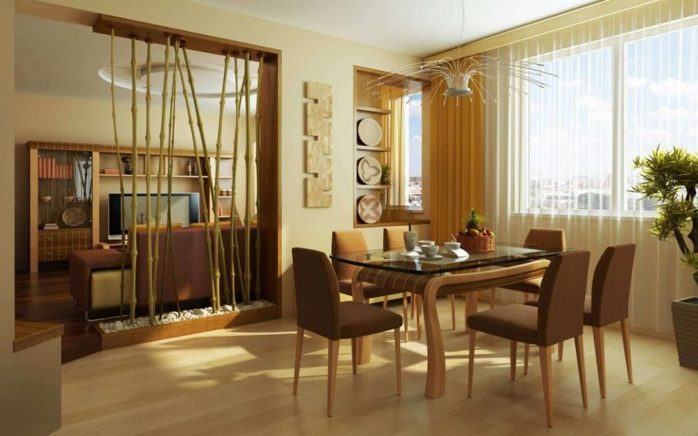 Бамбук - один из элементов данного стиля