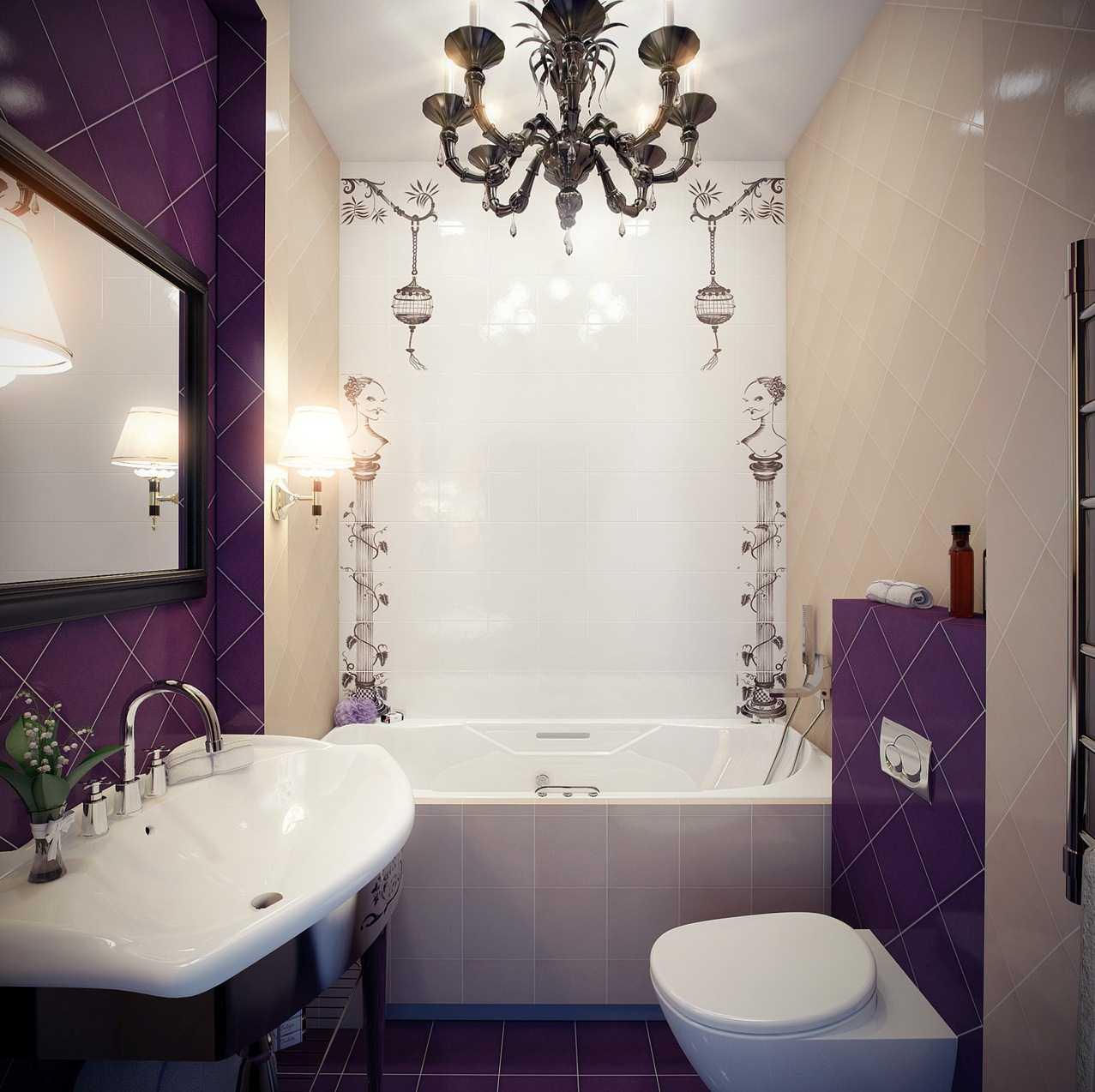 красивый стиль ванной комнаты