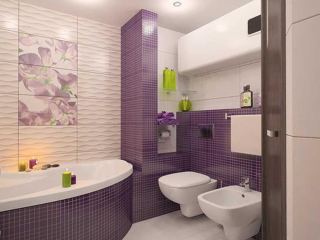 яркий интерьер душевой комнаты